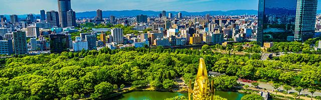2025年に万博が行われる大阪の風景