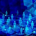 世界中を繋ぐネットワークのイメージ
